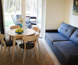 Forest view apartment with terrace in Preila
